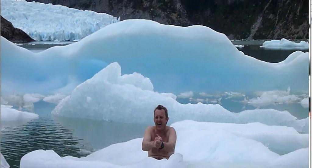 stop klataka z filmiku pod lodowcem w Chile